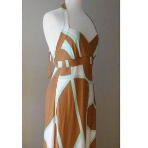 DVF Printed Halter Maxi Dress size 6